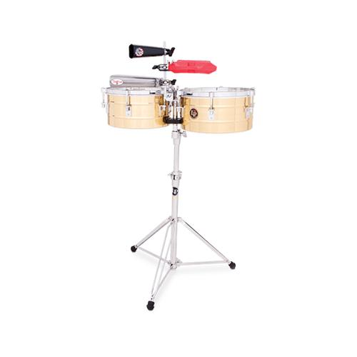 Latin Percussion LP255-B 12&13inch Tito Puente Timbales, Brass