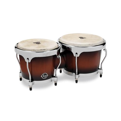 Latin Percussion LPA601-SBC Aspire Wood Bongos, Sunburst/Chrome Hardware