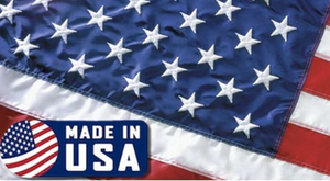 USA 3X5FT AMERICAN MADE EMBROIDERED FLAG (WHITE LABEL)
