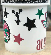 Load image into Gallery viewer, DYC Cheer Bucket (Only) ALL DECORATIONS (Glitter+Dragon Logo)