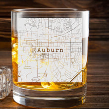 Load image into Gallery viewer, College Town Etched Map Whiskey Glasses