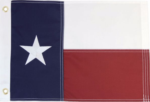Texas 12x18in Grommeted Embroidered Flag