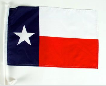 Texas Single-Sided Car Flag