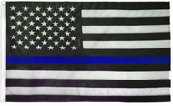 USA Thin Blue Line Embroidered Flag 4x6ft