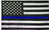 USA Thin Blue Line Embroidered Flag 5x8ft