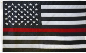 USA Thin Red Line Embroidered Flag 3x5ft