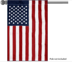 USA Embroidered Garden Flag 28.5x43.5in