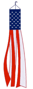 USA Embroidered Windsock