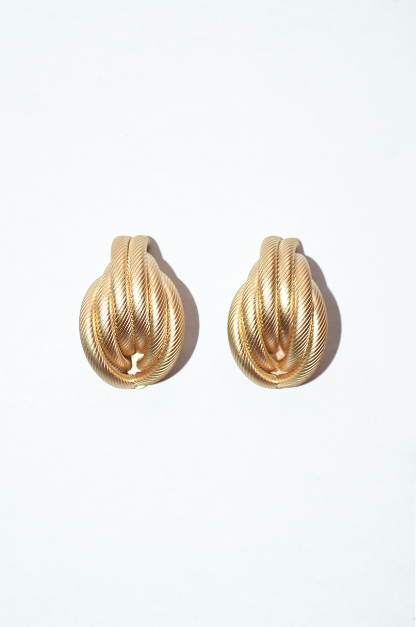 Oversized French Twist Earrings