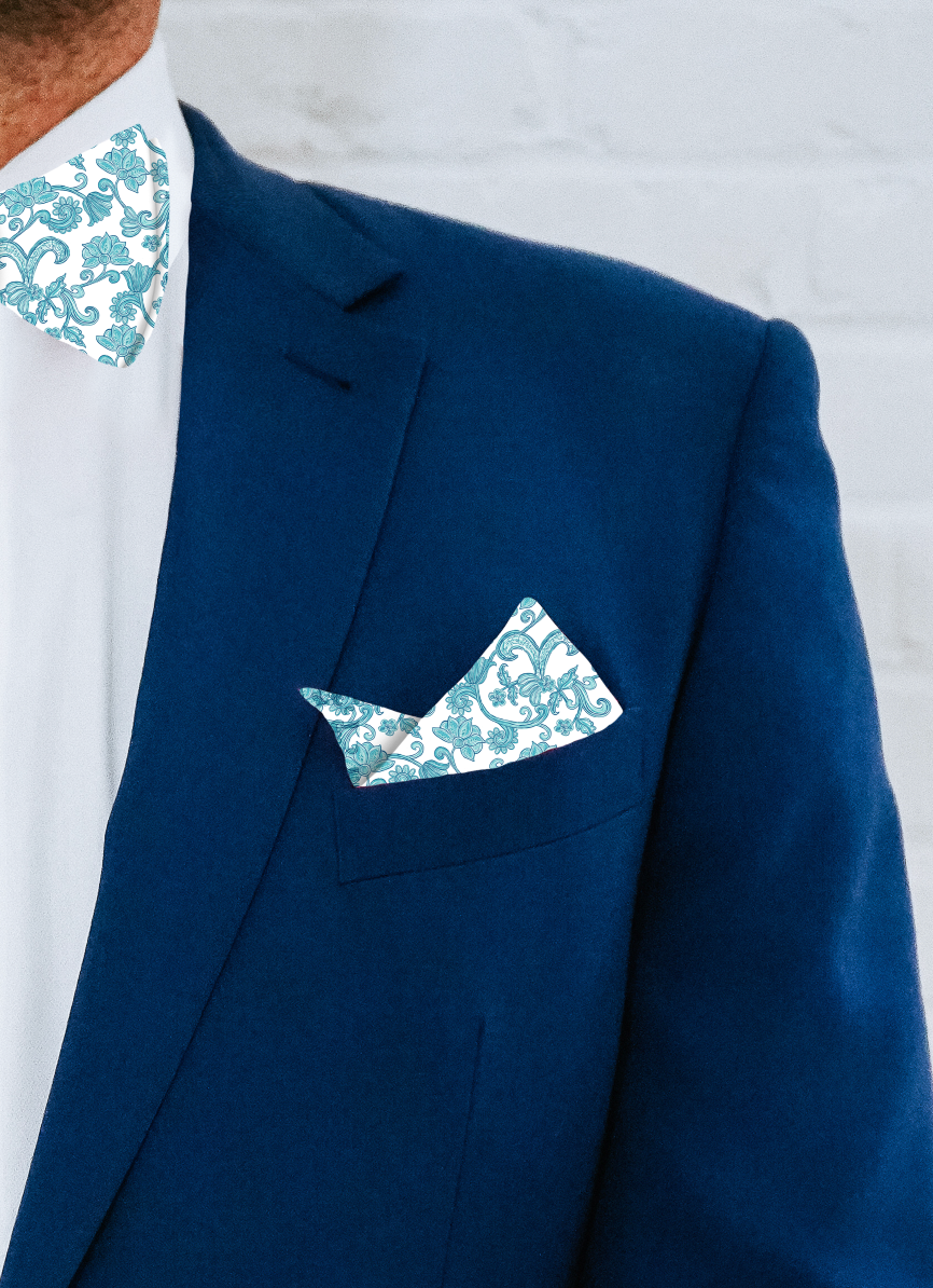 Pocket Square - Pacific Flora