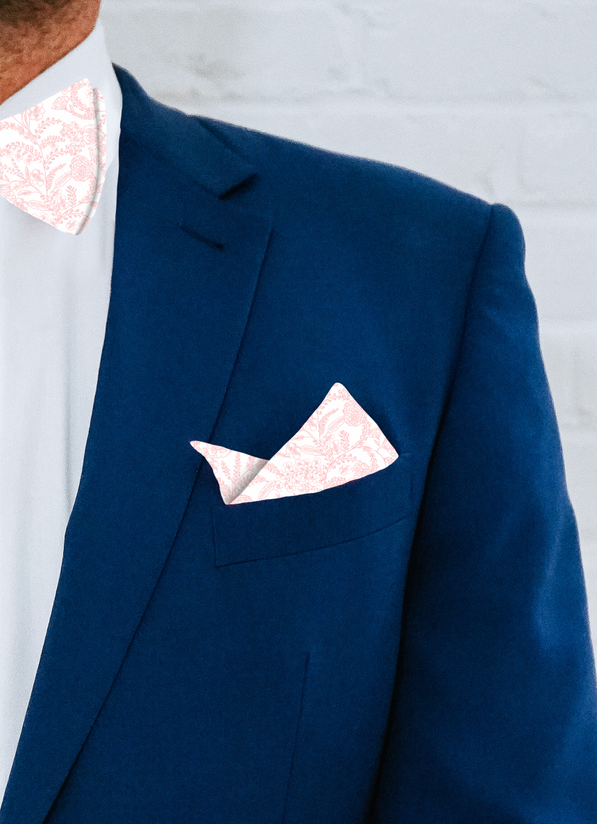 Pocket Square - Blushing Botanicals