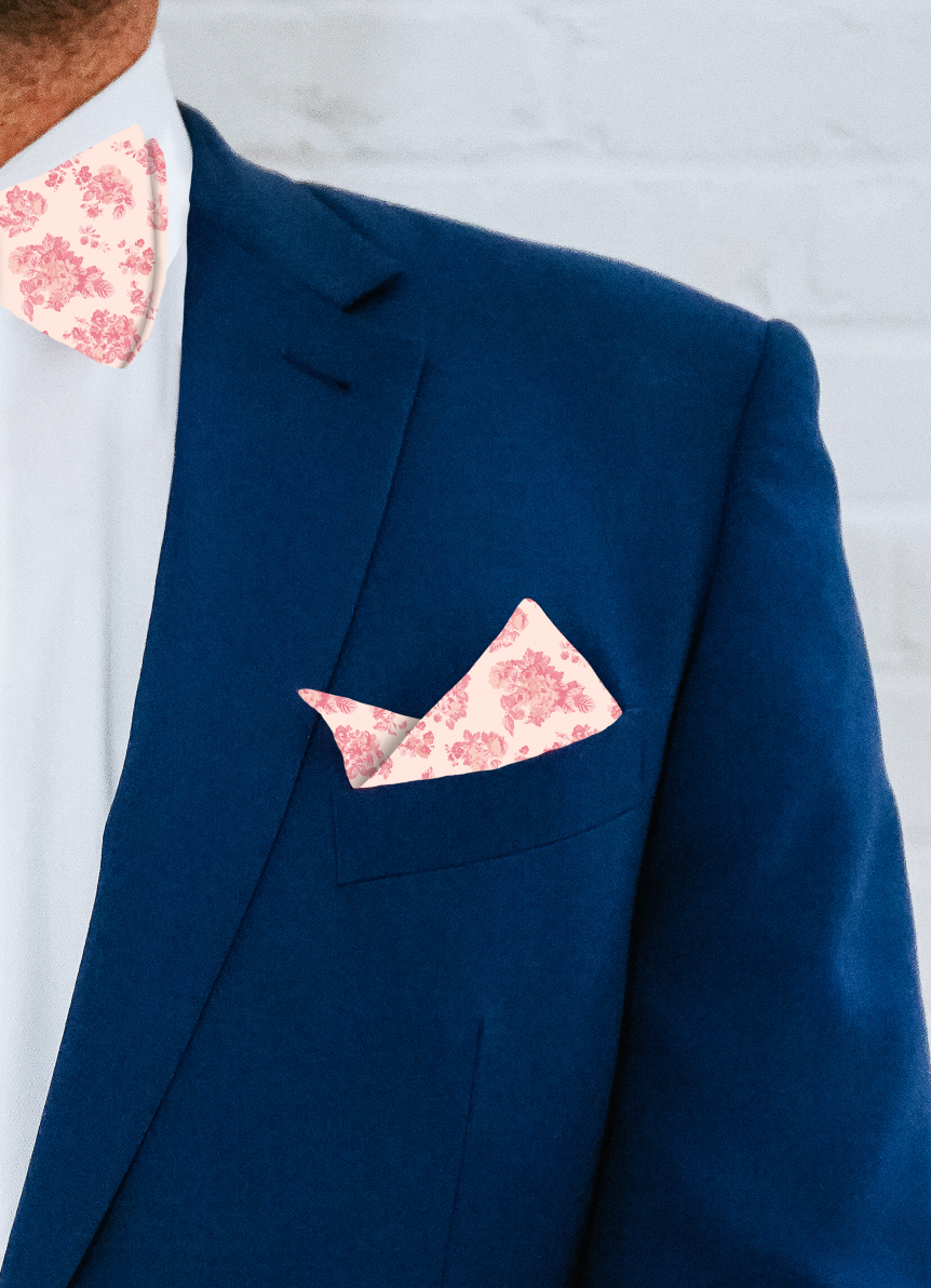 Pocket Square - Terrace Rose