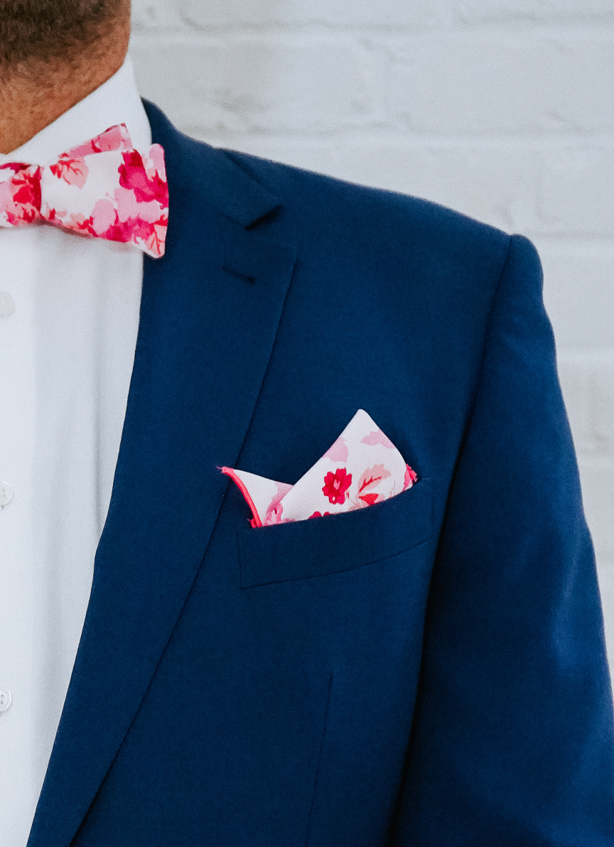 Pocket Square - Raspberry Chateau
