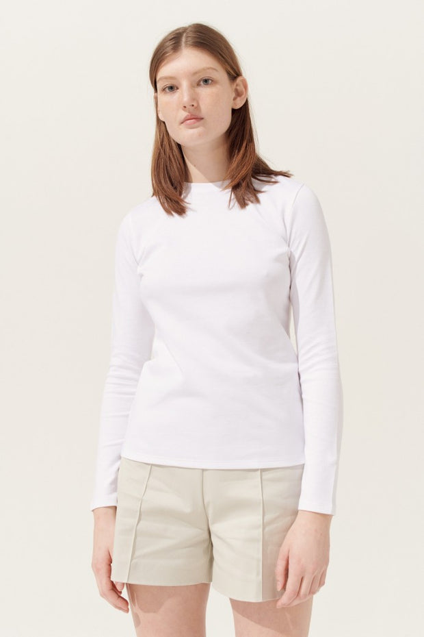 ANDREA LONG SLEEVE TEE  Hvit