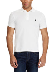 SLIM FIT STRETCH MESH POLO  Hvit