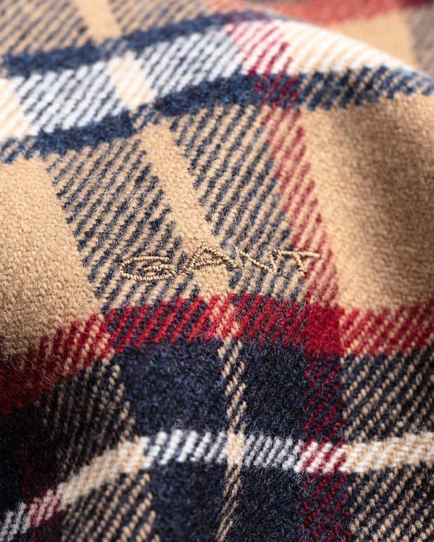WINTER MADRAS SCARF  Khaki