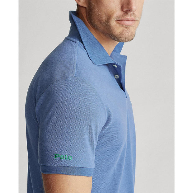 THE EARTH POLO RECYCLED MESH  Blå