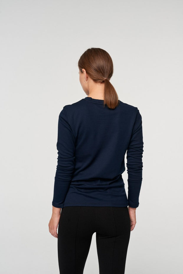 ANDREA LONG SLEEVE TEE  Marine