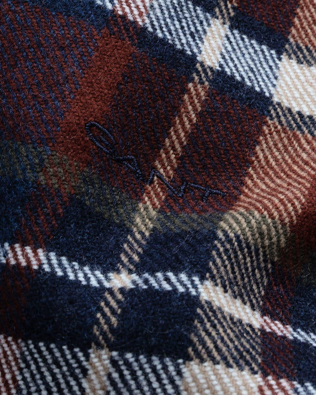 WINTER MADRAS SCARF  Blå