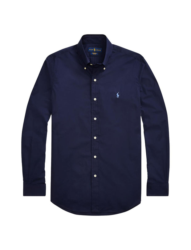 SLIM FIT POPLIN SHIRT  Marine