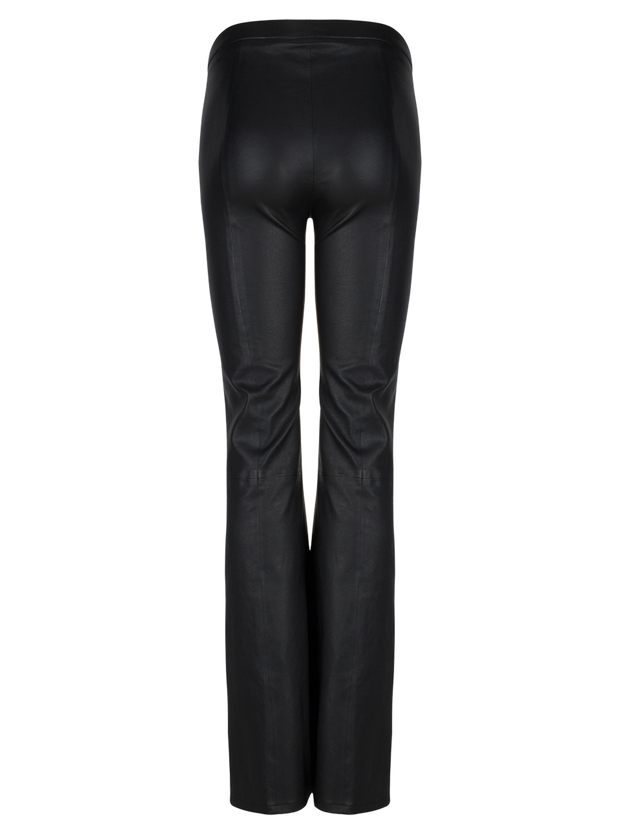TYSON FLARE LEATHER PANTS  Sort