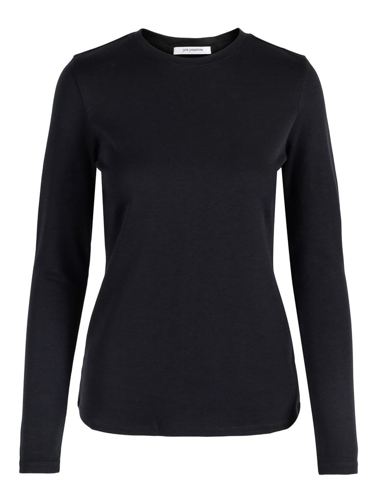 THE ANDREA LONG SLEEVE TEE  Sort