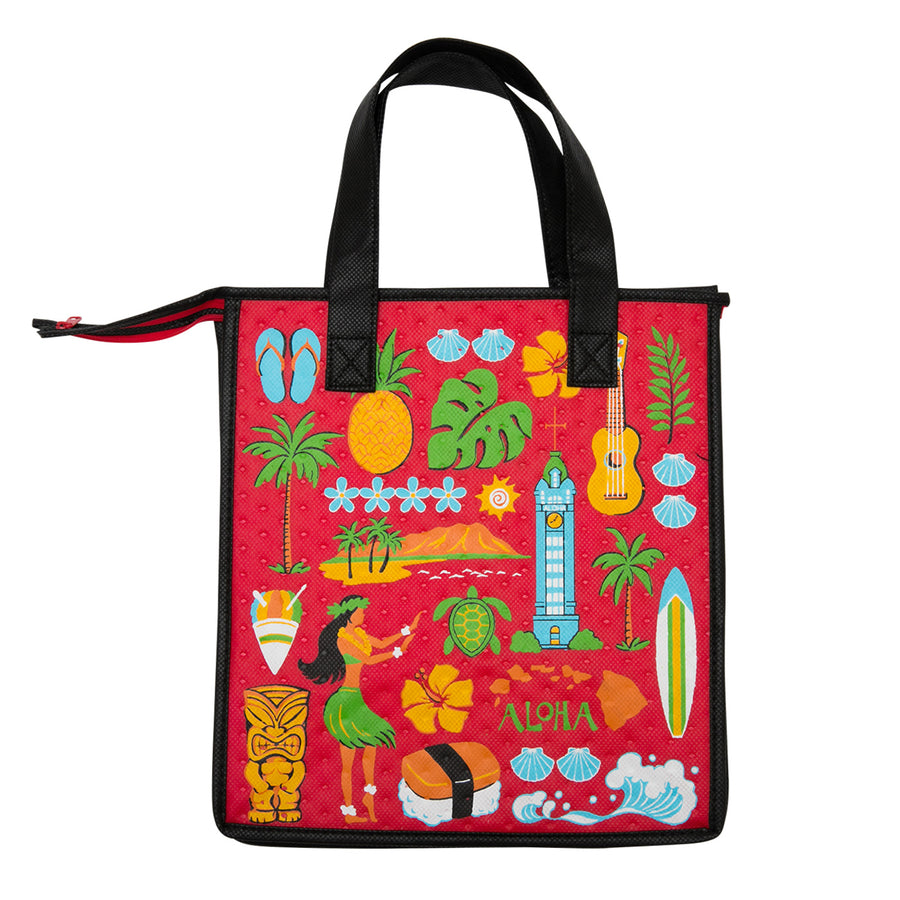 Medium Musubi Eco Bag - Red Aloha