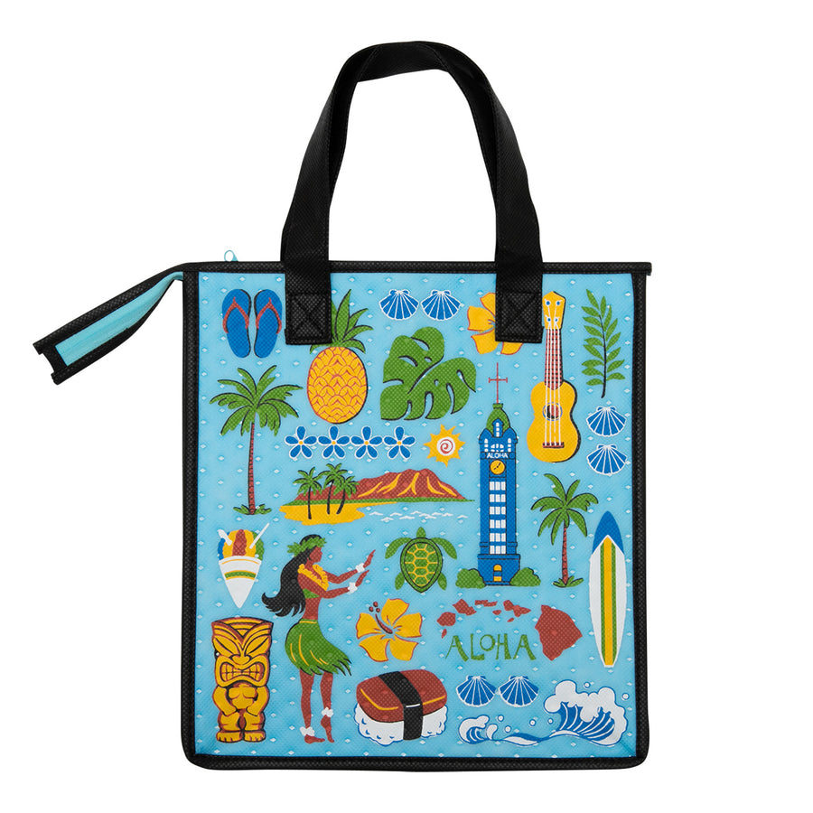 Medium Musubi Eco Bag - Turq Aloha
