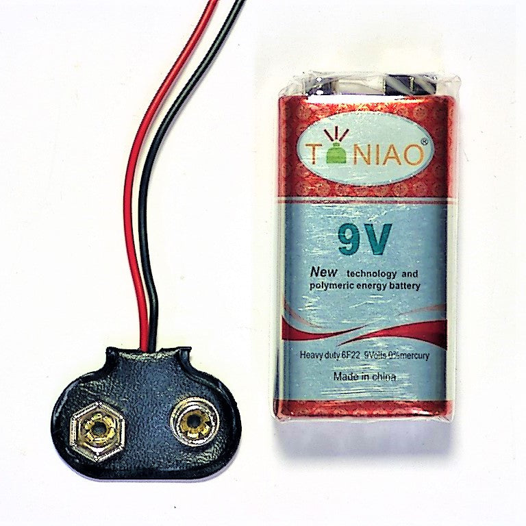 9V Battery wth 9V Connector