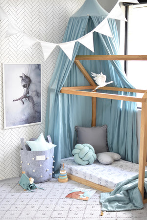 Load image into Gallery viewer, Wild Fern Fitted Cot Sheet