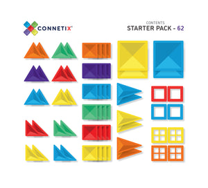 Connetix Tiles - 62 Piece Starter Pack