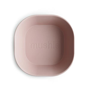 Mushie Dinnerware - Square Dinnerware Bowl Set of 2 (Blush)