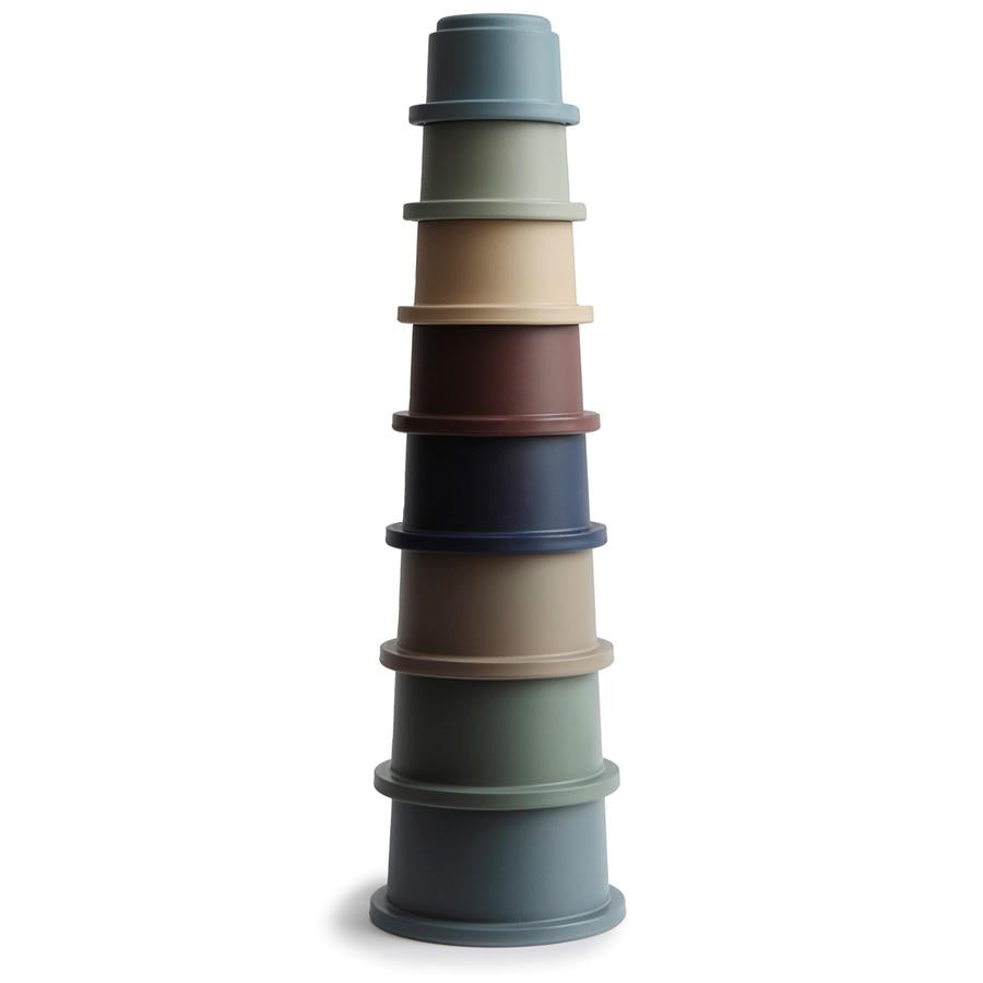 Mushie Stacking Cups Toy - Forest Colours