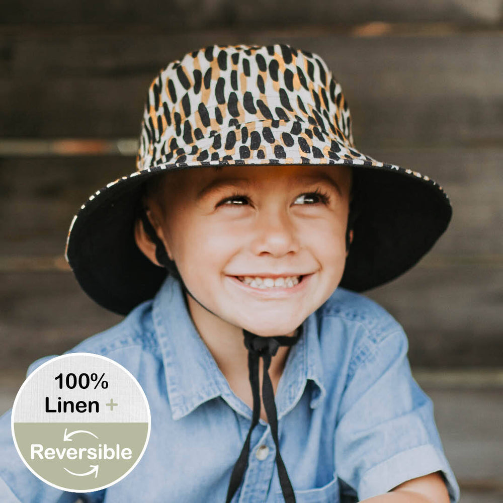 Kids 'Explorer' Reversible Bedhead Hats Sun Hat (Zuri / Ebony)