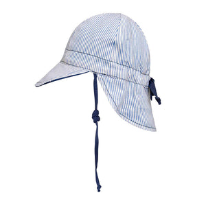 Load image into Gallery viewer, Reversible Bedhead Hats 'Lounger' Baby Flap Sun Hat (Charlie / Indigo)