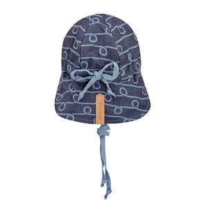 Reversible Bedhead Hats 'Lounger' Baby Flap Sun Hat (Crew / Steele)