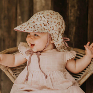 Reversible Bedhead Hats 'Lounger' Baby Flap Sun Hat (Harlow / Rosa)