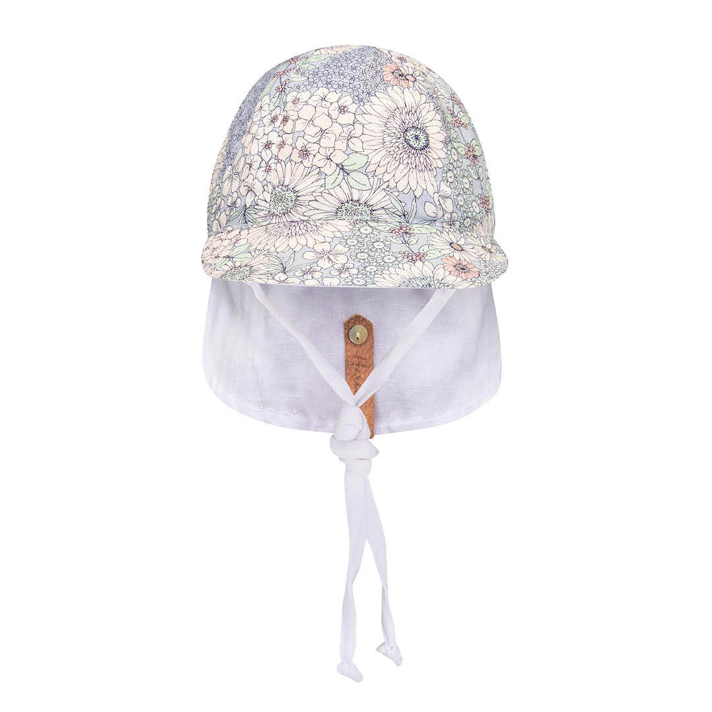 Load image into Gallery viewer, Reversible Bedhead Hats 'Lounger' Baby Flap Sun Hat (Prairie / Blanc)
