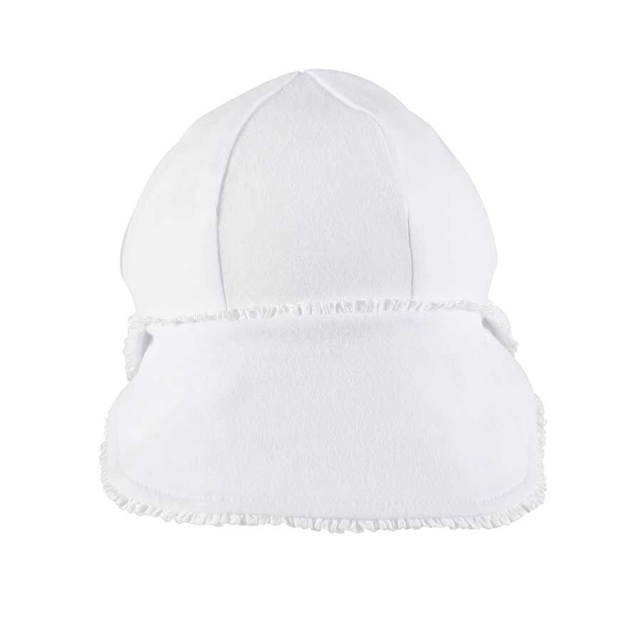 Load image into Gallery viewer, Legionnaire Bedhead Hats Flap Hat (White Ruffle Trim)