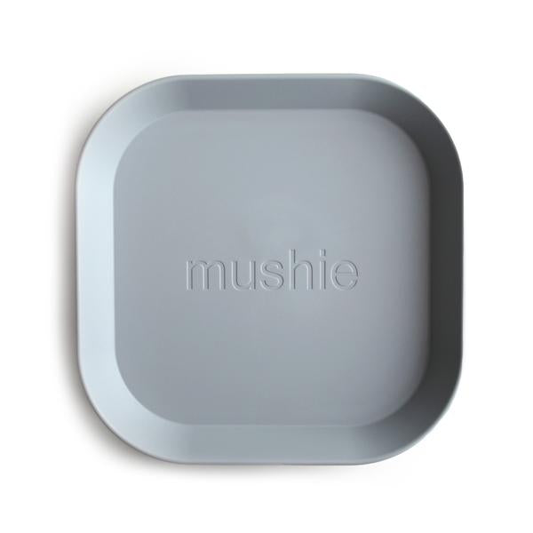 Mushie Dinnerware - Square Dinner Plates Set of 2 (Cloud)