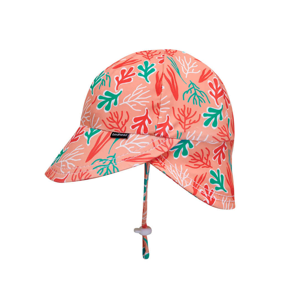 Load image into Gallery viewer, Beach Legionnaire Bedheads Hat Beach Coral Print (Swim)