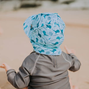 Load image into Gallery viewer, Beach Legionnaire Bedheads Hat Flap Hat Whale Print (Swim)