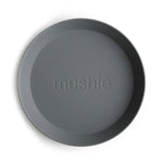 Mushie Dinnerware - Round Dinner Plates Set of 2 (Smoke)