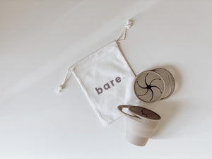 Bare The Label - Silicone Snackie Cup (Taupe)