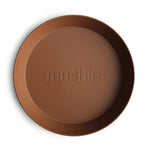 Mushie Dinnerware - Round Dinner Plates Set of 2 (Caramel)