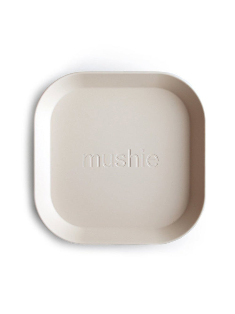 Mushie Dinnerware - Square Dinner Plates Set of 2 (Ivory)