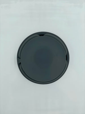 Silicone Suction Divided Plate - Charcoal