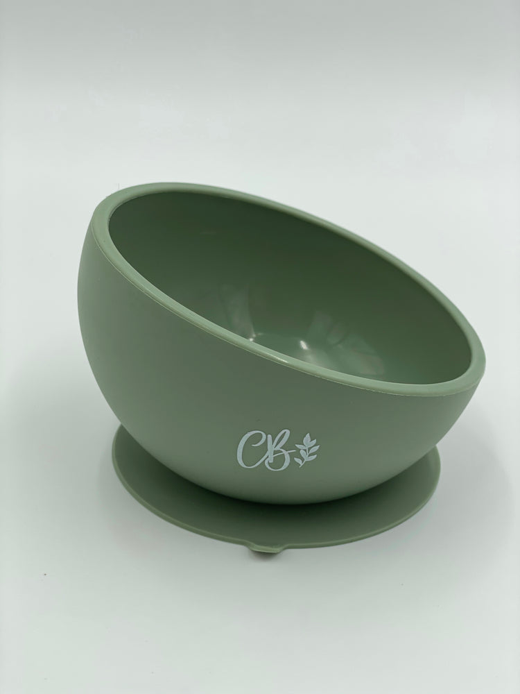 Silicone Suction Bowl - Sage