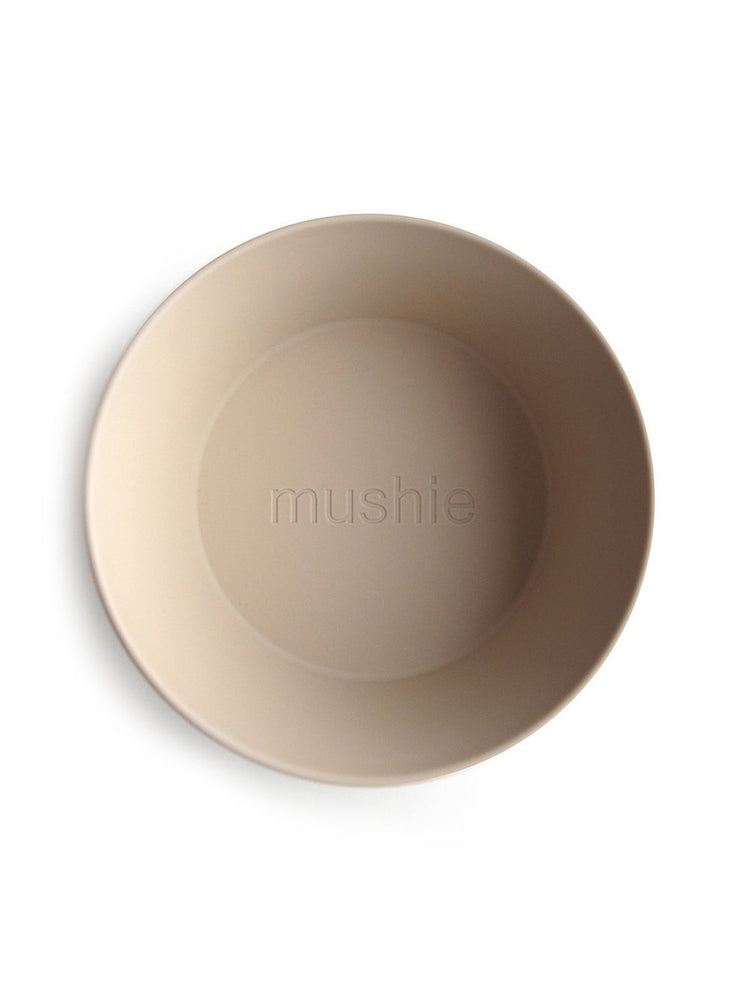 Mushie Dinnerware - Round Dinnerware Bowl Set of 2 (Vanilla)