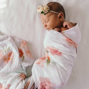 Load image into Gallery viewer, Sorbet Bloom Organic Muslin Wrap